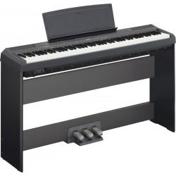 YAMAHA -PACK- P115B PIANO DIGITAL NEGRO + SOPORTE Y PEDALERA
