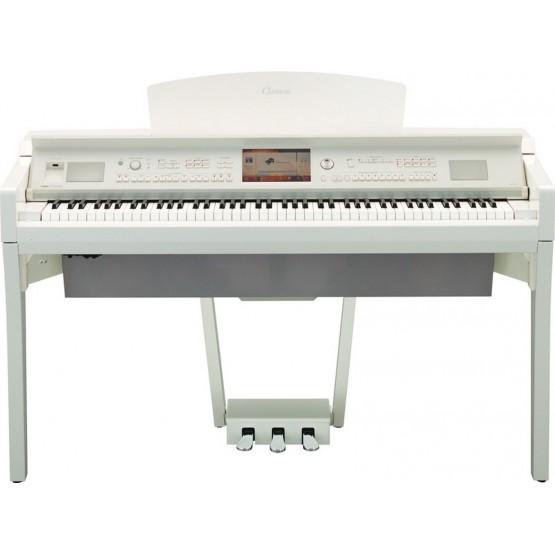 YAMAHA CVP709 PWH PIANO DIGITAL CLAVINOVA BLANCO PULIDO