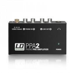 LD SYSTEMS LDPPA2 PREAMPLIFICADOR Y ECUALIZADOR RIAA PARA TOCADISCOS