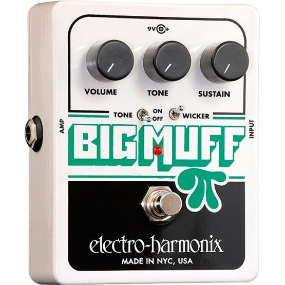 ELECTRO HARMONIX BIG MUFF PI CON TONE WICKER PEDAL DISTORSION