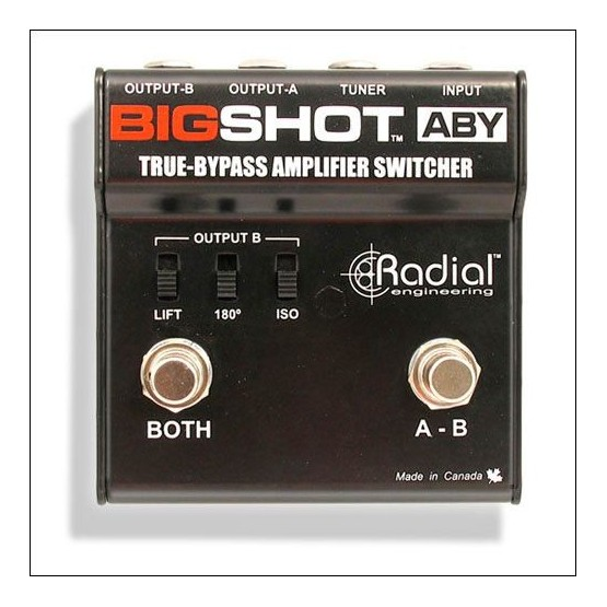 RADIAL BIGSHOT ABY PEDAL SELECTOR