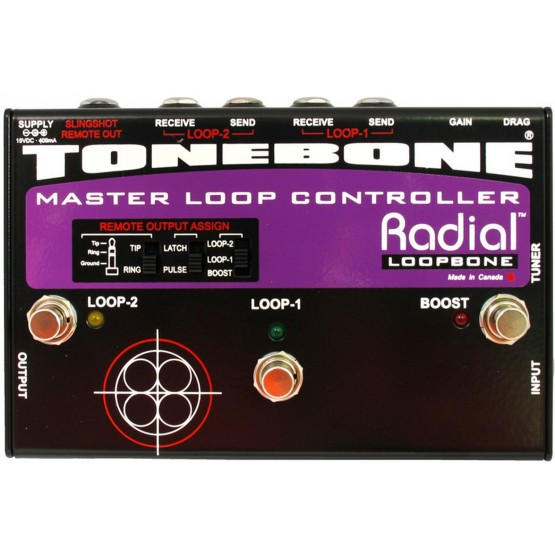 RADIAL LOOPBONE CONMUTADOR 2  LOOPS DE EFECTOS