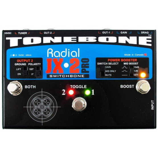 RADIAL SWITCHBONE SELECTOR AMPLIFICADOR GUITARRA
