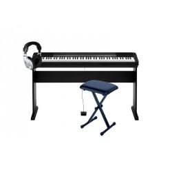 CASIO -PACK- CDP130BK KIT PIANO DIGITAL CON SOPORTE + BANQUETA Y AURICULARES