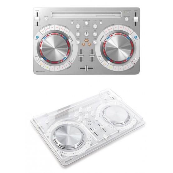 PIONEER -PACK- DDJ-WEGO 3 W CONTROLADOR DJ BLANCO + TAPA PROTECTORA DECKSAVER. OUTLET