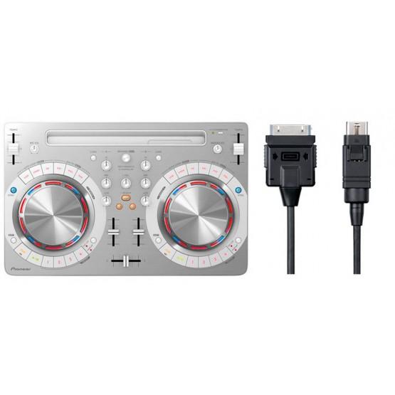 PIONEER -PACK- DDJ-WEGO 3 W CONTROLADOR DJ BLANCO + PIONEER DJC WECAI30 CABLE IOS 30 PINS. OUTLET