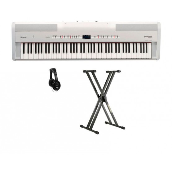 ROLAND -PACK- FP80WH PIANO DIGITAL NEGRO + SOPORTE Y AURICULARES