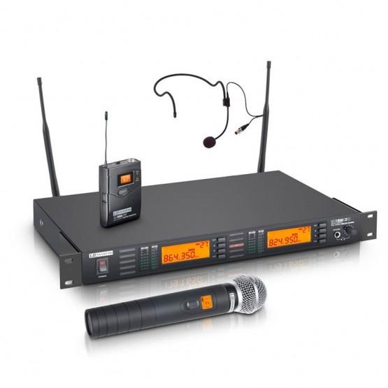 LD SYSTEMS LDWS1000G2HBH2 SISTEMA INALAMBRICO CON MICROFONO DE MANO Y DE DIADEMA