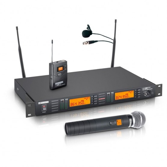 LD SYSTEMS LDWS1000G2HHL2 SISTEMA INALAMBRICO CON MICROFONO DE MANO Y MICROFONO LAVALIER