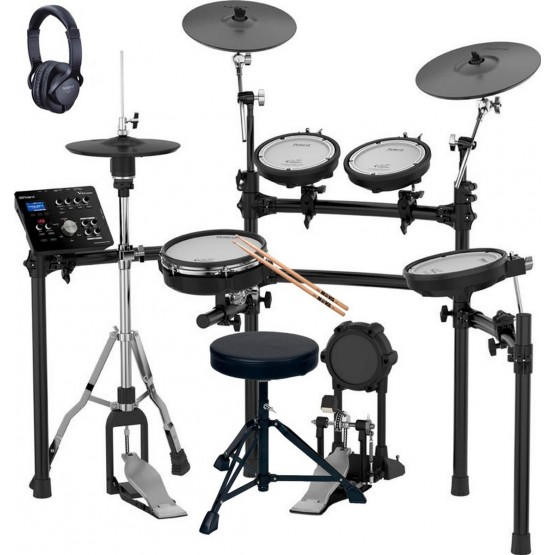 ROLAND -PACK- TD25K BATERIA ELECTRONICA + PEDAL BOMBO + PEDAL HIHAT+ASIENTO + AURICULARES Y BAQUETAS