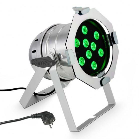 CAMEO CLP56TRI3WPS FOCO PAR LED TRICOLOR RGB 9X3W CROMADO