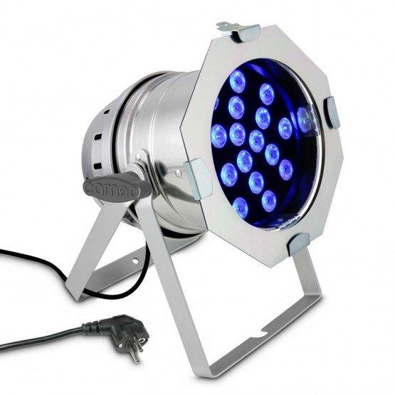 CAMEO CLP64TRI3WPS FOCO PAR LED TRICOLOR RGB 18X3W CROMADO