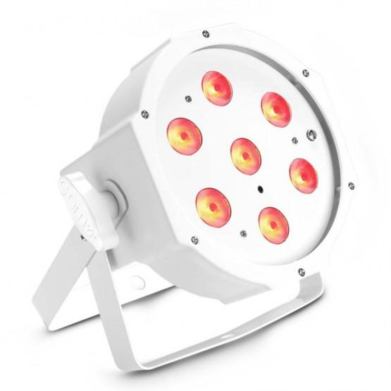 CAMEO CLPFLAT1TRI3WIRWH FOCO PAR LED TRICOLOR RGB PLANO 7X3W BLANCO