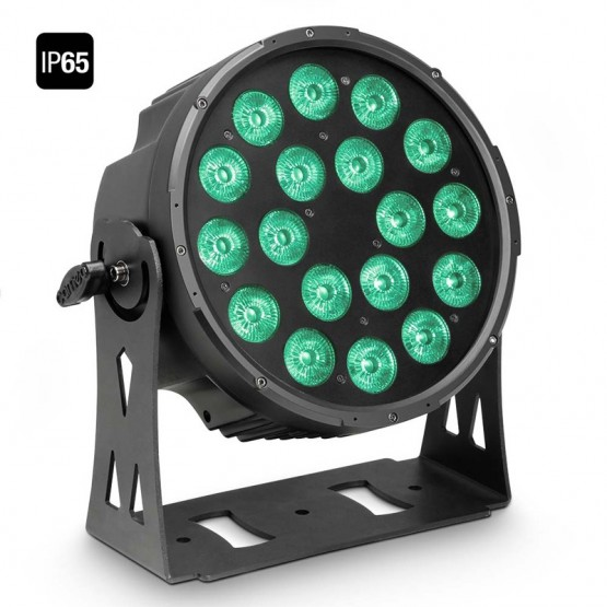 CAMEO CLPFLATPRO18IP65 FOCO OUTDOOR PAR LED RGBWA PLANO 18X10W