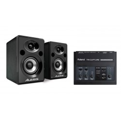ALESIS -PACK- ELEVATE5 MONITORES + AUDIO TECHNICA AT2020 + ROLAND UA33 Y CABLE