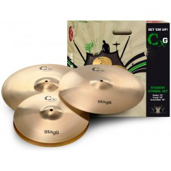 STAGG CXG SET SET DE PLATOS BATERIA