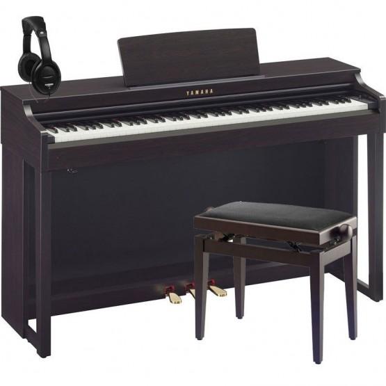 YAMAHA -PACK- CLP525 R PIANO DIGITAL PALOSANTO + BANQUETA Y AURICULARES