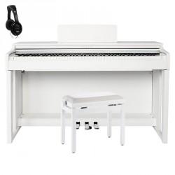 YAMAHA -PACK- CLP525 WH PIANO DIGITAL BLANCO + BANQUETA Y AURICULARES