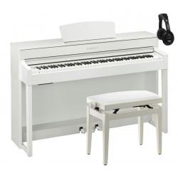 YAMAHA -PACK- CLP535 WH PIANO DIGITAL BLANCO MATE+ BANQUETA Y AURICULARES