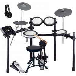 YAMAHA -PACK- DTX542K BATERIA ELECTRONICA + PEDAL BOMBO + ASIENTO + AURICULARES Y BAQUETAS