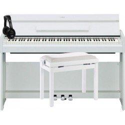 YAMAHA -PACK- YDPS52 WH PIANO DIGITAL ARIUS + BANQUETA Y AURICULARES DE REGALO