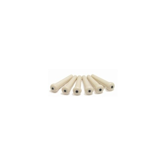 TUSQ BP085700T BRIDGE PINS WITH TRADITIONAL BLACK DOT (6 PIECES) BP1122-00