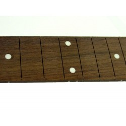 ALL PARTS LT10740R0 25-1/2 SCALE ROSEWOOD FINGERBOARD, WITH DOT INLAYS, 21 FRET SLOTS, NO FRETS