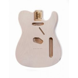 ALL PARTS TBFWH REPLACEMENT BODY FOR TELE ALDER, WITH SEE-THROUGH WHITE FINISH