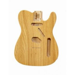 ALL PARTS TBFNAT REPLACEMENT BODY FOR TELE ASH BODY TRAD ROUTING NATURAL FINISH