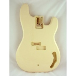 ALL PARTS PBFOW REPLACEMENT BODY FOR PBASS ALDER TRADITIONAL ROUTINGWHITE FINISH