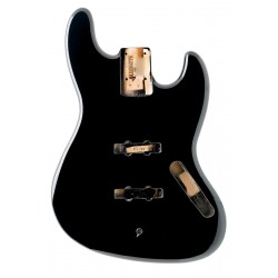 ALL PARTS JBFBK REPLACEMENT BODY FOR JBASS ALDER TRADITIONAL ROUTING BLACK FINISH
