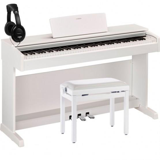 YAMAHA -PACK- YDP143WH PIANO DIGITAL ARIUS BLANCO + BANQUETA Y AURICULARES