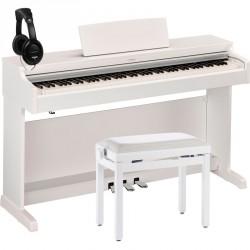 YAMAHA -PACK- YDP163WH PIANO DIGITAL ARIUS BLANCO + BANQUETA Y AURICULARES
