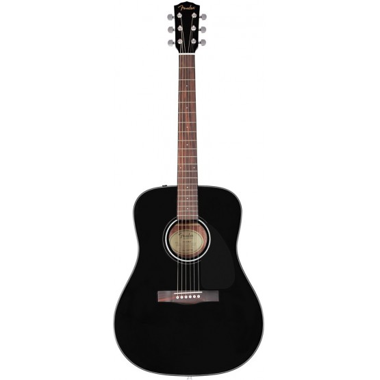FENDER CD60 GUITARRA ACUSTICA NEGRA
