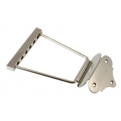 ALL PARTS TP0429001 SHORT TRAPEZE TAILPIECE, NICKEL, 2 STRING SPACING, 4-3/8 LONG