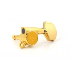 GOTOH TK0963002 GOTOH SG381 TUNING KEYS WITH LARGE BUTTONS 3 X 3 GOLD WITH SCREWS 16:1
