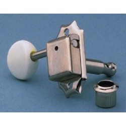 GOTOH TK0977001 GOTOH 3 X 3 TUNING KEYS VINTAGE STYLE WITH PLASTIC OVAL BUTTONS NICKEL 15:1