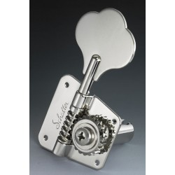 SCHALLER TK0881001 SCHALLER BMFL 4 IN LINE OPEN GEAR VINTAGE/CBS STYLE BASS KEYS WITH NICKEL FINISH