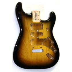 ALL PARTS SBF22SB ULTRALIGHT REPLACEMENT BODY FOR STRATOCASTER REG ASH WITH TREMOLO ROUTING AND 2TON
