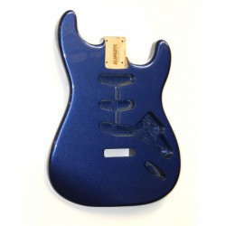ALL PARTS SBFMB REPLACEMENT BODY FOR STRATOCASTER REG ALDER TREMOLO ROUTING WITH METALLIC BLUE FINIS