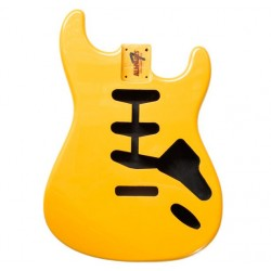 ALL PARTS SBFCAY REPLACEMENT BODY FOR STRATOCASTER REG WITH CANDY APPLE YELLOW FINISH