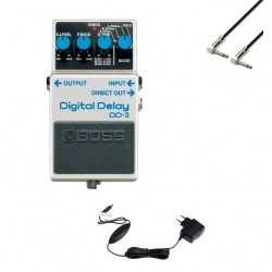 BOSS -PACK- DD3 PEDAL DELAY CON ALIMENTADOR BOSS PSA230S Y CABLE 15 CM