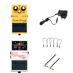 BOSS -PACK- OD3 PEDAL OVERDRIVE + BOSS TU3 AFINADOR + ALIMENTADOR Y CABLES