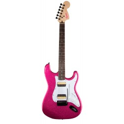 SQUIER AFFINITY STRATOCASTER HH RW GUITARRA ELECTRICA CANDY PINK SPARKLE. OUTLET
