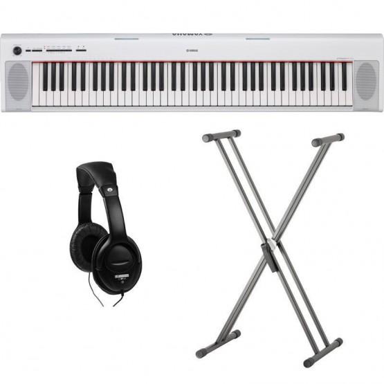 YAMAHA -PACK- NP32WH PIANO DIGITAL PIAGGERO BLANCO + SOPORTE TIJERA Y AURICULARES