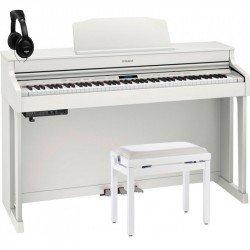ROLAND -PACK- HP603 WH PIANO DIGITAL 88 TECLAS CONTRAPESADAS + BANQUETA Y AURICULARES