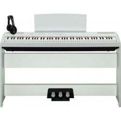 YAMAHA -PACK- P115WH PIANO DIGITAL BLANCO + SOPORTE + PEDALERA Y AURICULARES