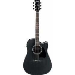 IBANEZ AW84CE WK GUITARRA ELECTROACUSTICA DREADNOUGHT WEATHERED BLACK. NOVEDAD