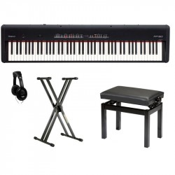 ROLAND -PACK- FP50BK PIANO DIGITAL NEGRO + SOPORTE + BANQUETA Y AURICULARES