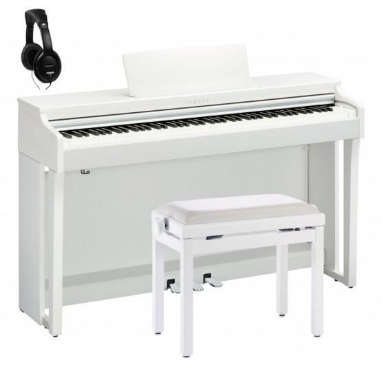 YAMAHA -PACK- CLP625 WH PIANO DIGITAL BLANCO + BANQUETA Y AURICULARES